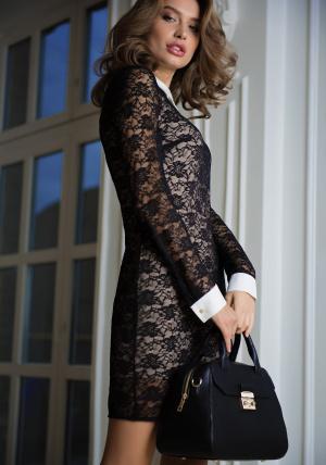 ПлатьеПлатья<br>Состав: Ткань 1: 92% полиамид, 8% эластан, Ткань 2: 100% вискоза<br>