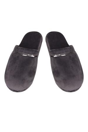 Туфли комнатныеТапочки<br>Состав: Верх обуви: 95% полиэстер, Верх обуви: 5% эластан, Внутренний слой: 100% полиэстер, Подошва: 95% полиэстер, Подошва: 5% поливинилхлорид<br>
