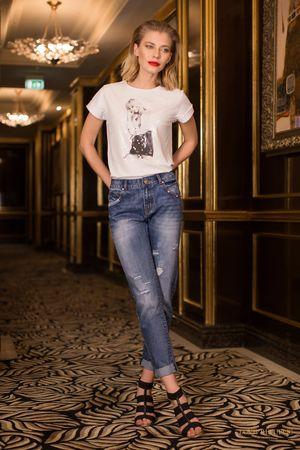 Брюки джинсовыеДжинсы<br>Состав: 81% хлопок, 18% полиэстер, 1% вискоза<br>